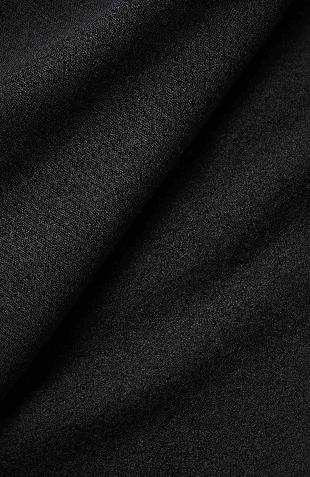 nusy 裏起毛であったかきれいめジョグパンツ <ブラック>の商品写真3