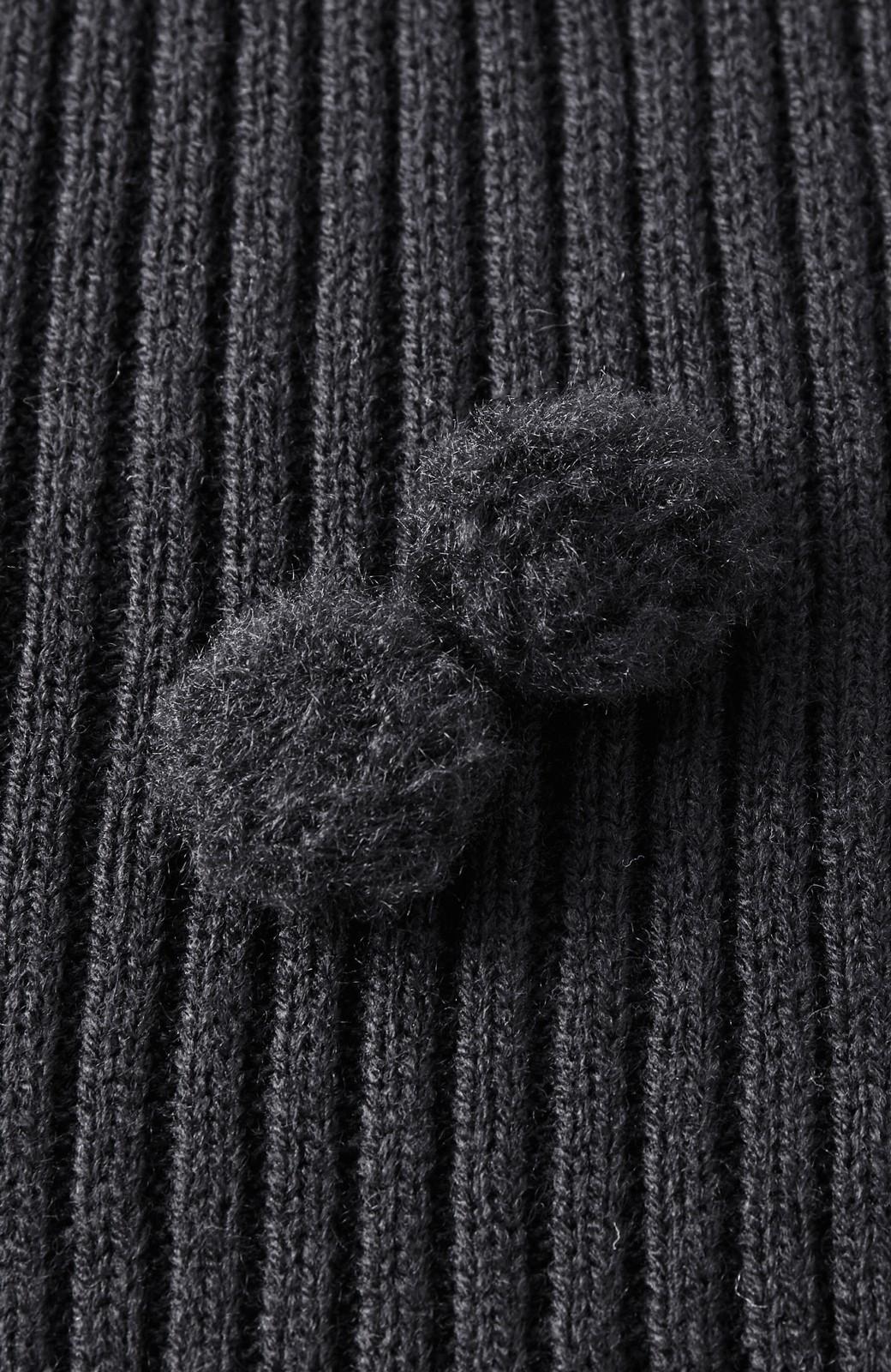 haco! うさぎシルエットのアンチピリングニットジャンパースカート <ブラック>の商品写真9