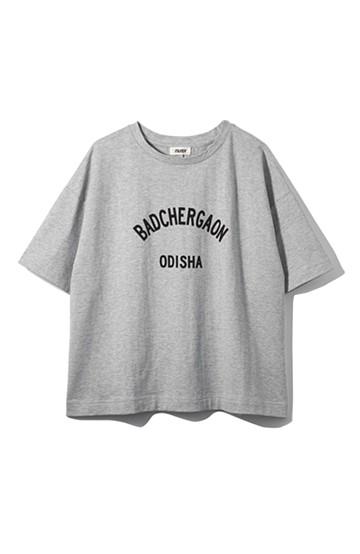 nusy PBP オーガニックコットンロゴTシャツ<NAMASTE!INDIA> <杢グレー>の商品写真