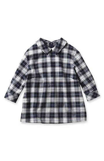nusy 衿付きチェックプルオーバー <ブルー>の商品写真
