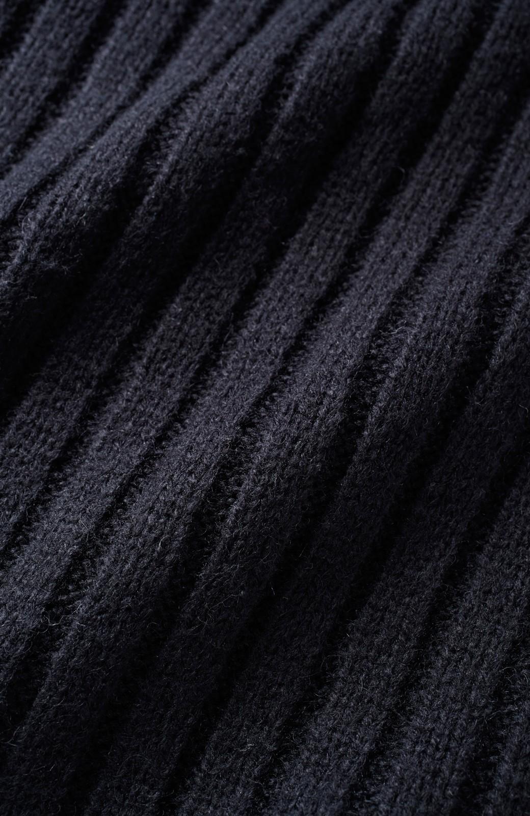 nusy すそフリンジリブ編みニットトップス <ブラック>の商品写真3