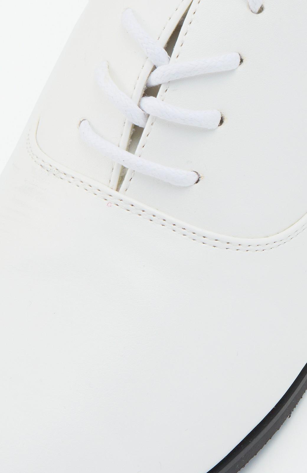 nusy とりあえず迷った日に履いて間違いがない ベーシックレースアップシューズ <ホワイト>の商品写真5