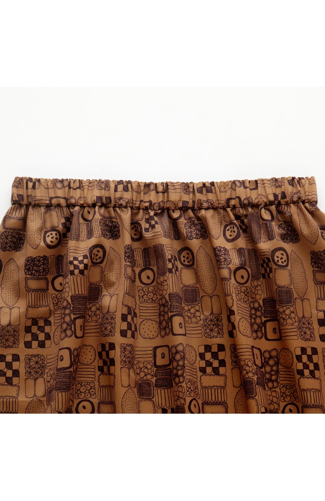 haco! ユニカラート tomoko クッキー柄 スカート <ブラウン>の商品写真3