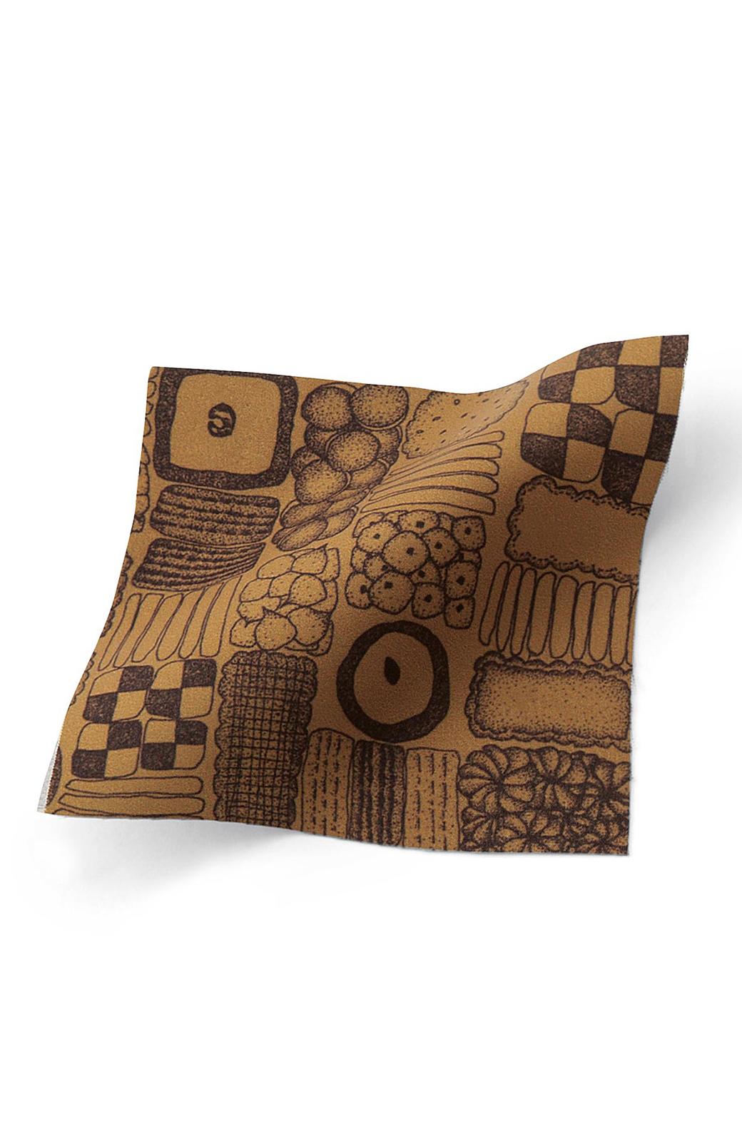 haco! ユニカラート tomoko クッキー柄 スカート <ブラウン>の商品写真2