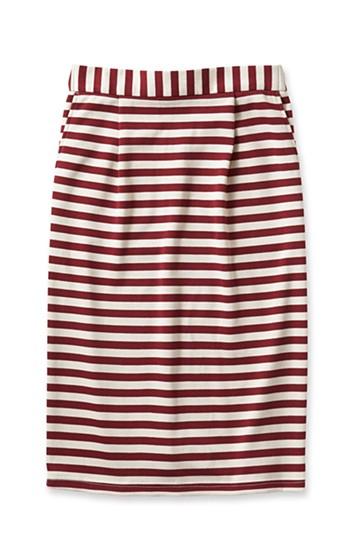 nusy ボーダータイトスカート <ホワイト×レッド>の商品写真