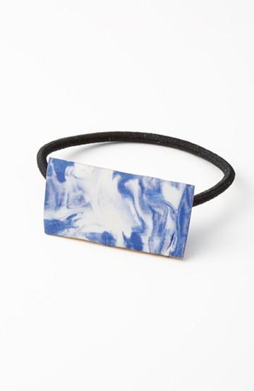 haco! てとひとて KYOKO TSUDA NEOMETEO HAIRGUM 金彩 長方形 青マーブル×金彩 <ブルー>の商品写真