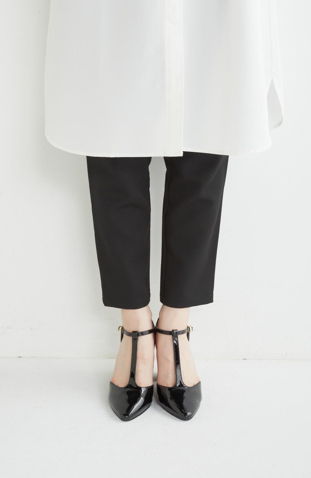 SHE THROUGH SEA おでかけの日に大切に履きたい、Tストラップパンプス <ブラック>の商品写真2