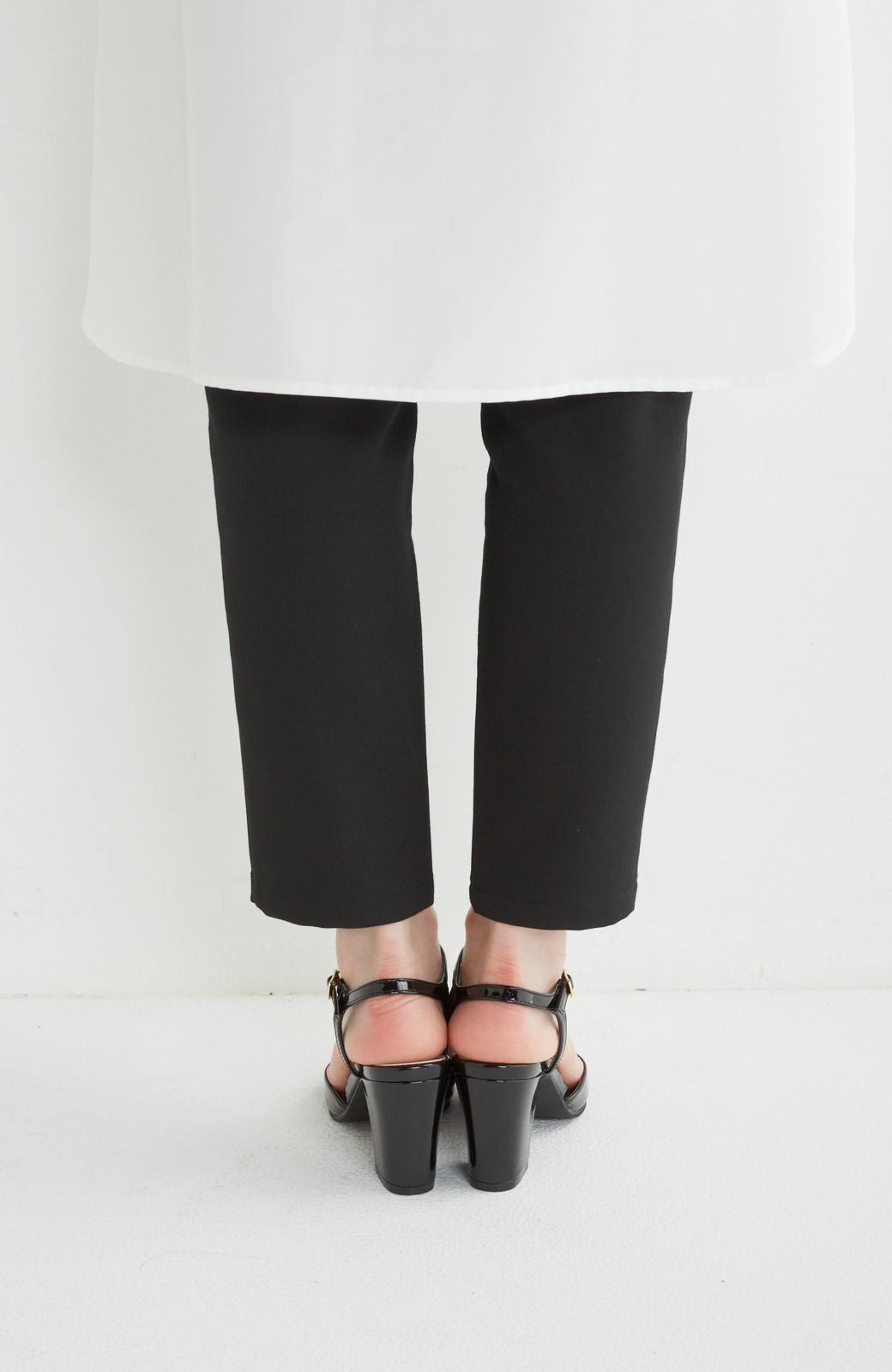 SHE THROUGH SEA おでかけの日に大切に履きたい、Tストラップパンプス <ブラック>の商品写真4