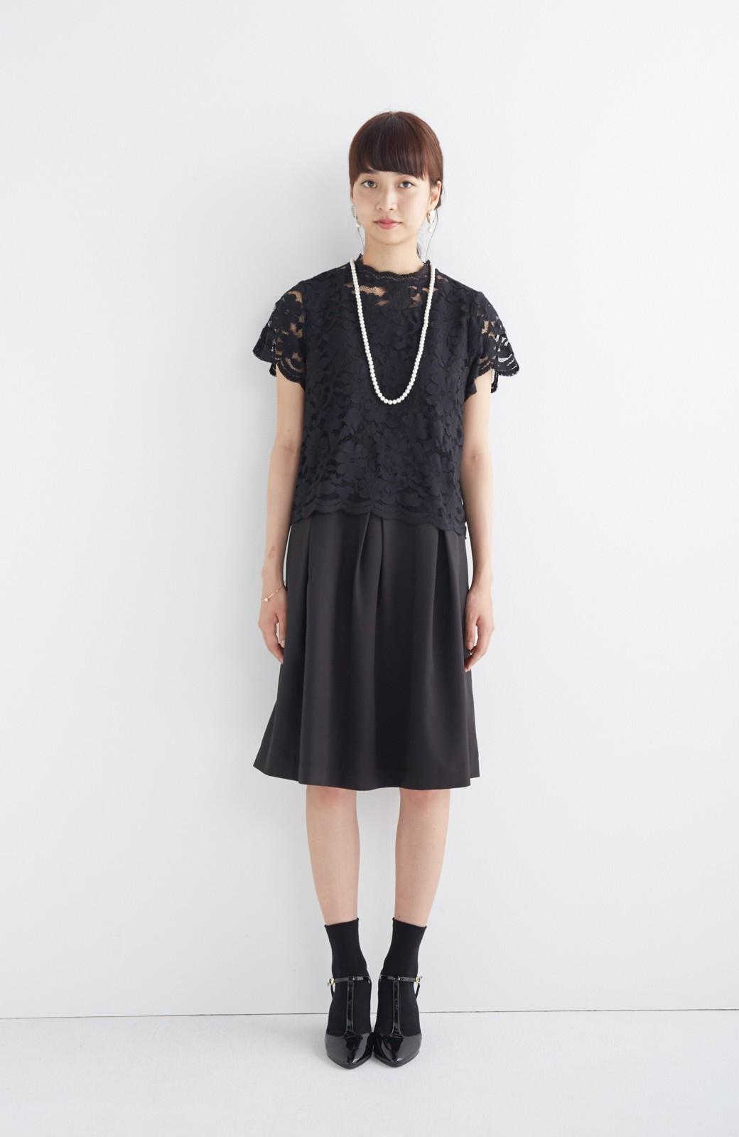 SHE THROUGH SEA おでかけの日に大切に履きたい、Tストラップパンプス <ブラック>の商品写真12