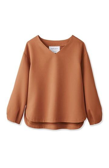 エムトロワ 簡単キレイ、ふんわり袖のTブラウス <キャメル>の商品写真