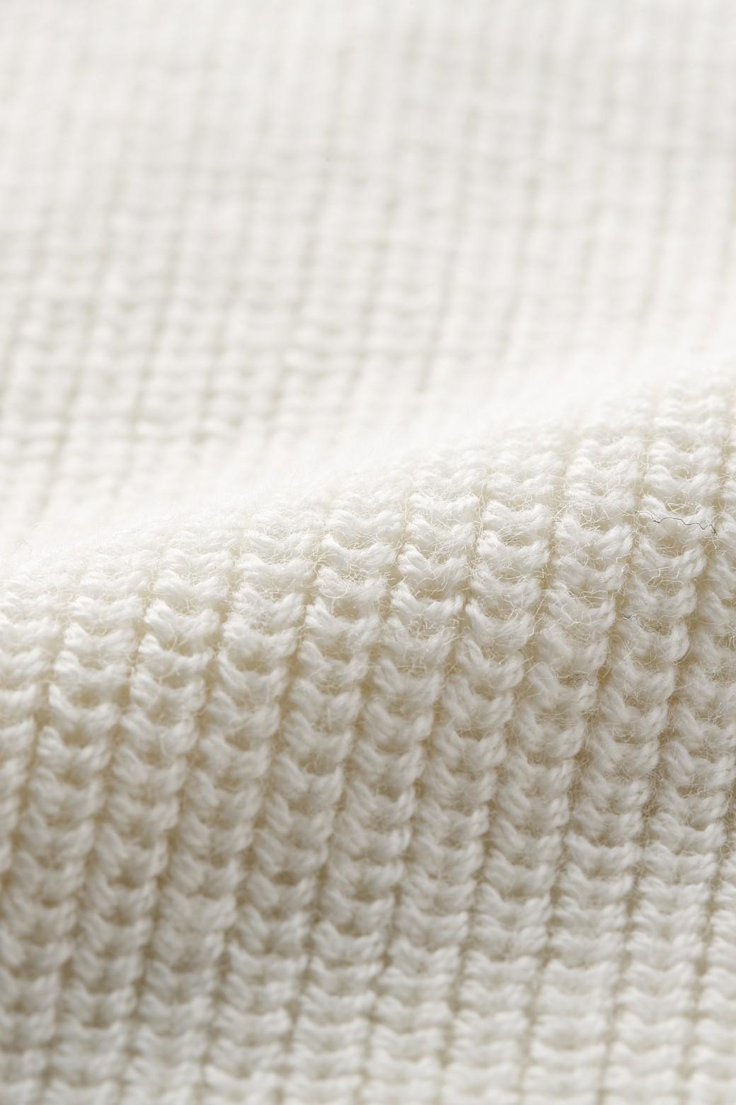 nusy PBP オーガニックコットンのVネックニット <ホワイト>の商品写真3