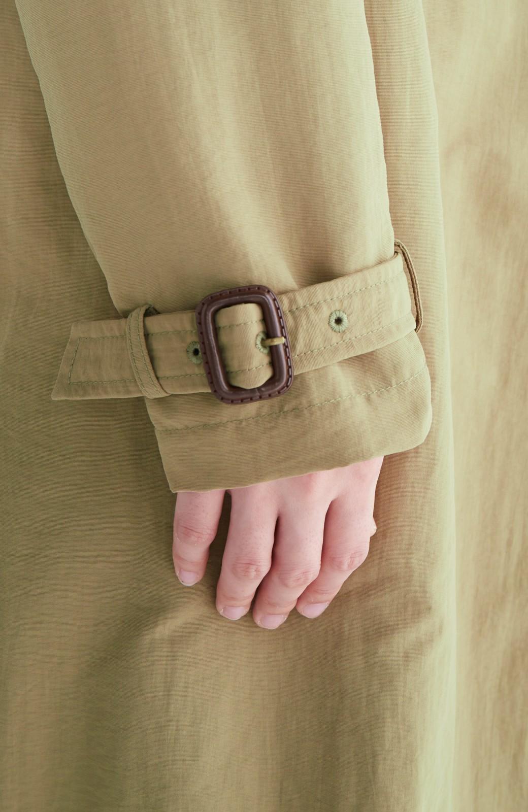 エムトロワ ぱっと羽織るだけで様になる、簡単ロングガウントレンチコート <ベージュ>の商品写真3