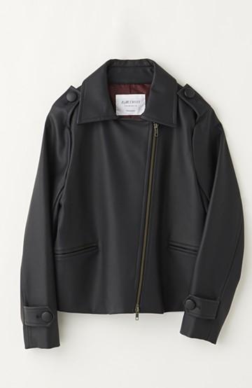 エムトロワ 初心者も安心、ハードすぎずに着やすいライダースジャケット <ブラック>の商品写真