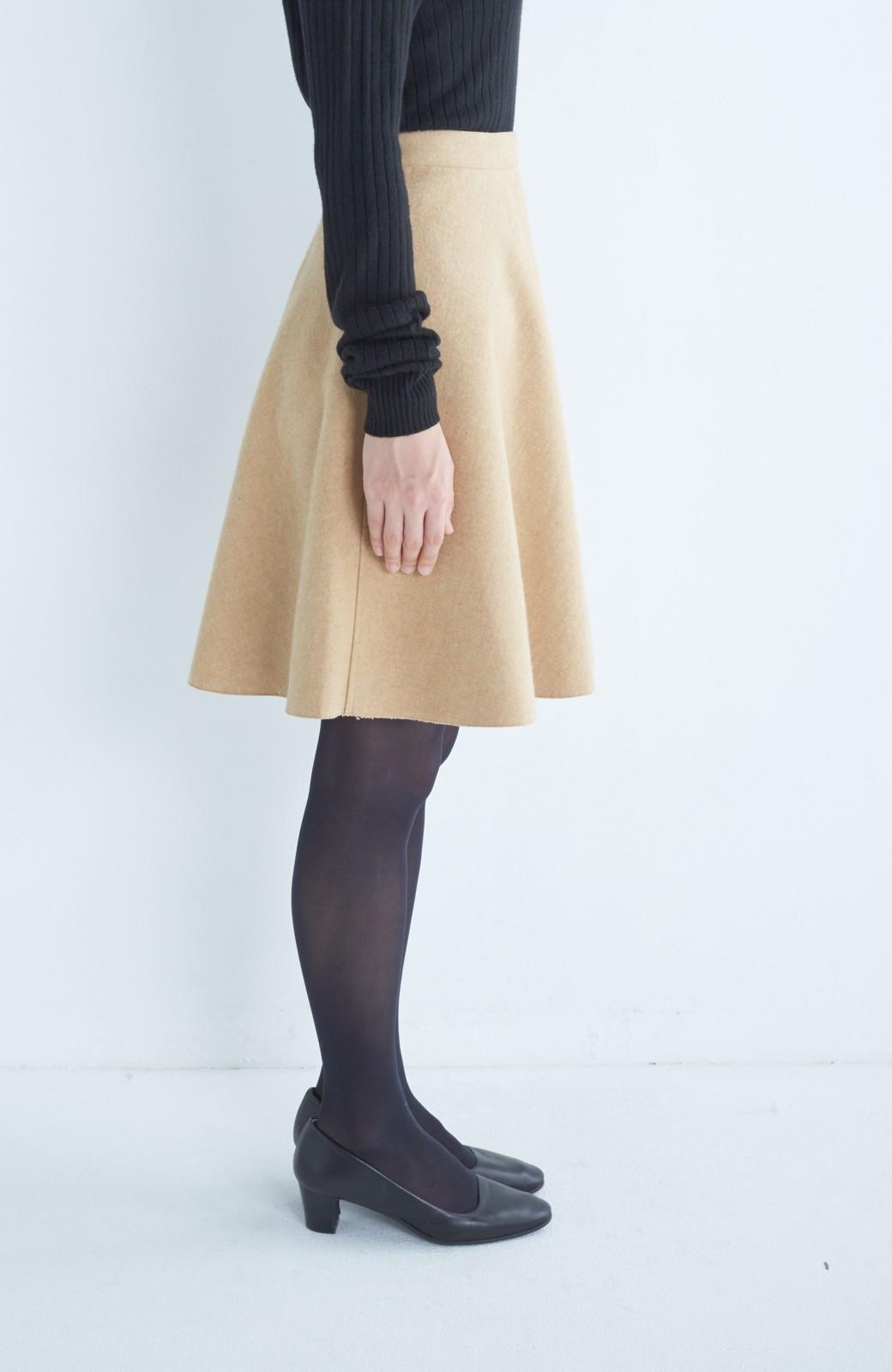 エムトロワ 【mer1月号掲載】きれい色もあったかも楽しめるリバーシブルフレアースカート <ベージュ>の商品写真8