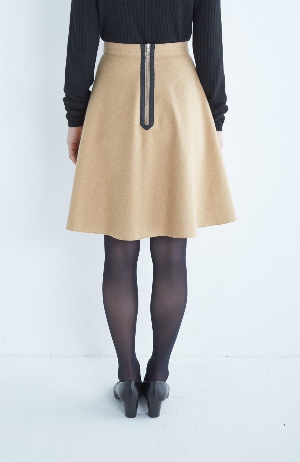 エムトロワ 【mer1月号掲載】きれい色もあったかも楽しめるリバーシブルフレアースカート <ベージュ>の商品写真9