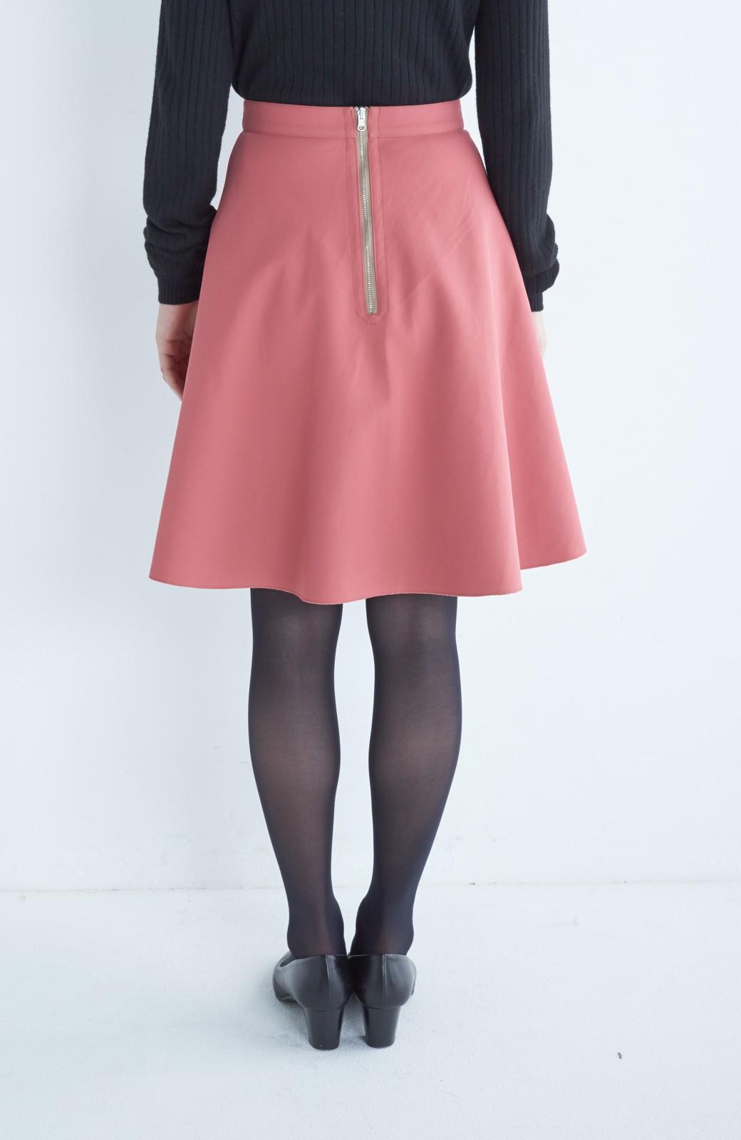 エムトロワ 【mer1月号掲載】きれい色もあったかも楽しめるリバーシブルフレアースカート <ベージュ>の商品写真10