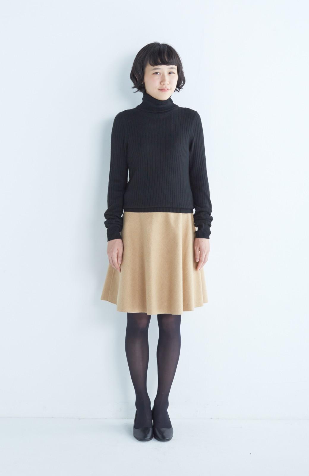 エムトロワ 【mer1月号掲載】きれい色もあったかも楽しめるリバーシブルフレアースカート <ベージュ>の商品写真11