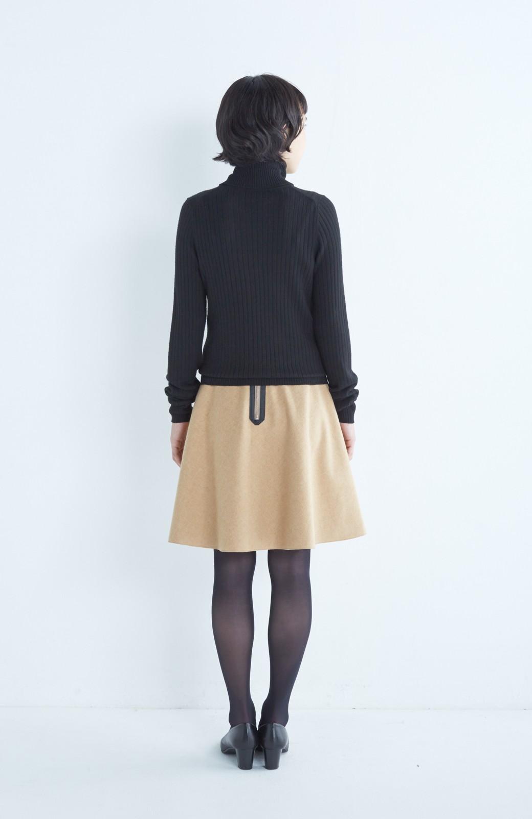 エムトロワ 【mer1月号掲載】きれい色もあったかも楽しめるリバーシブルフレアースカート <ベージュ>の商品写真13