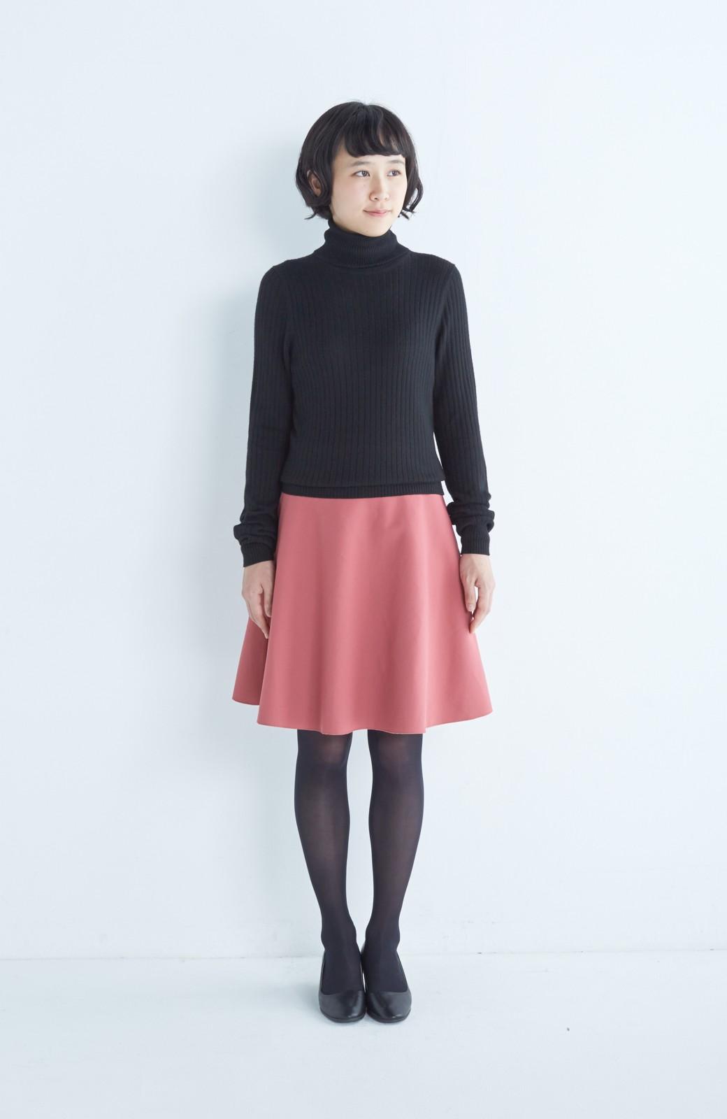 エムトロワ 【mer1月号掲載】きれい色もあったかも楽しめるリバーシブルフレアースカート <ベージュ>の商品写真14