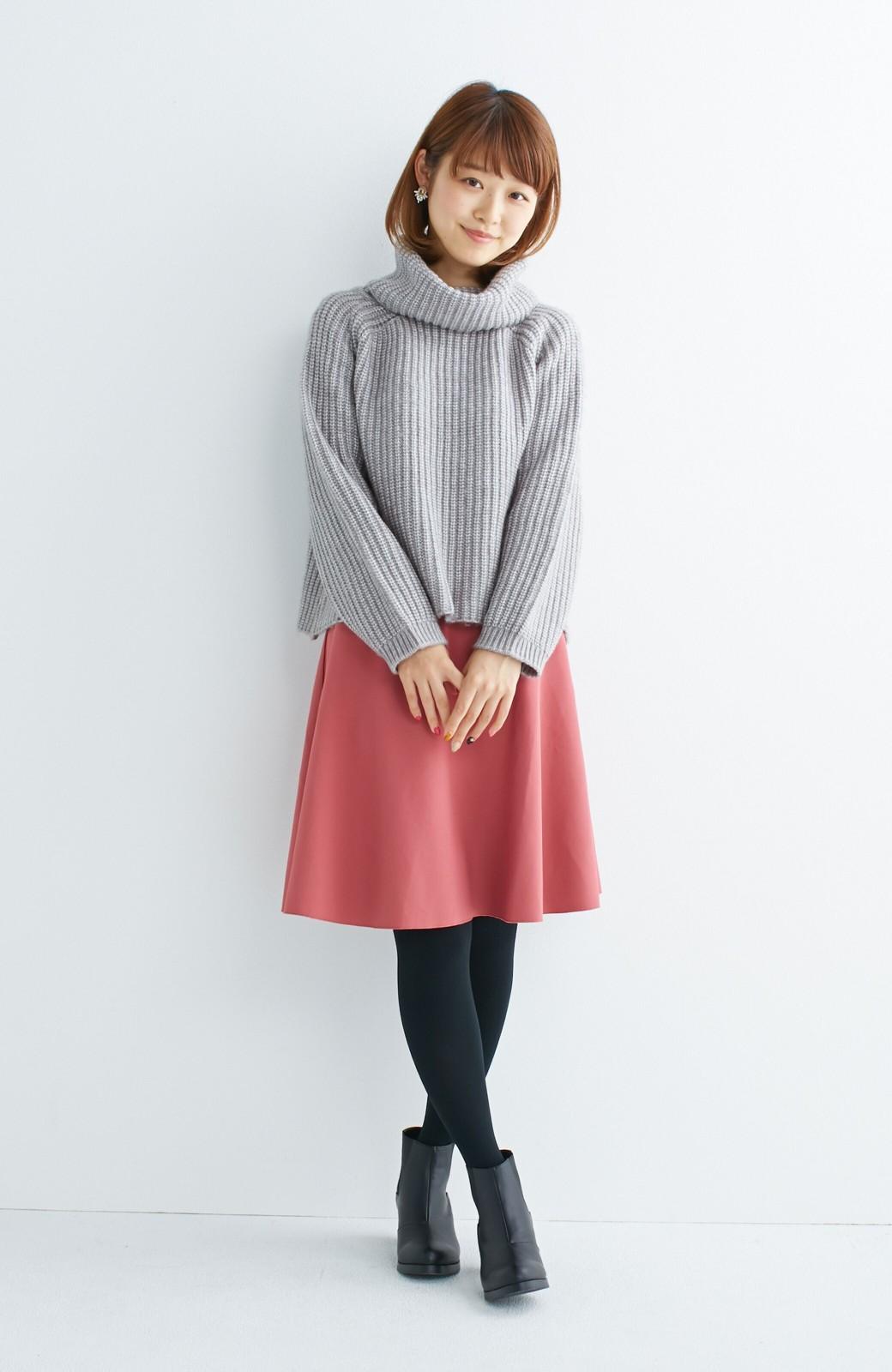 エムトロワ 【mer1月号掲載】きれい色もあったかも楽しめるリバーシブルフレアースカート <ベージュ>の商品写真4