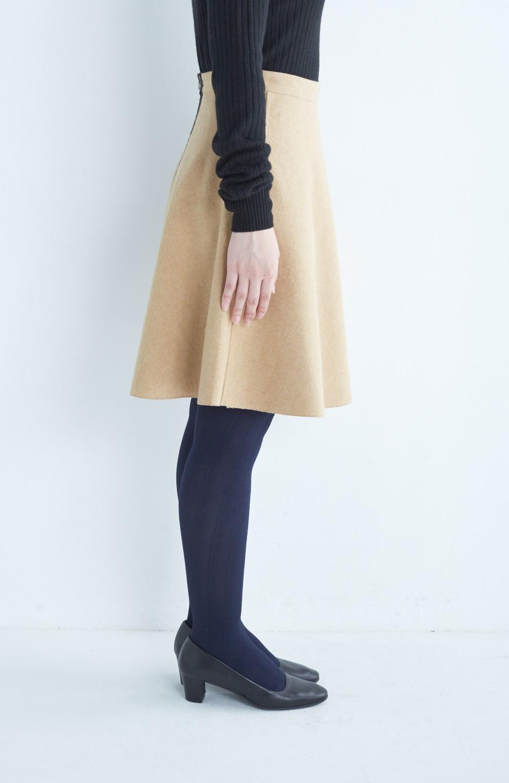 エムトロワ 【mer1月号掲載】きれい色もあったかも楽しめるリバーシブルフレアースカート <ベージュ>の商品写真17