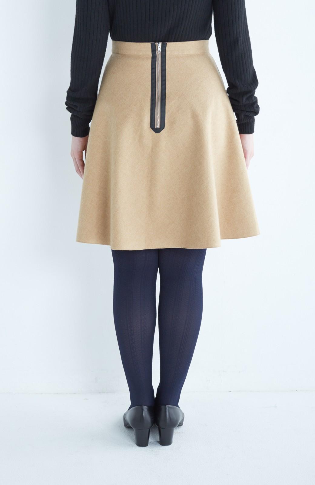エムトロワ 【mer1月号掲載】きれい色もあったかも楽しめるリバーシブルフレアースカート <ベージュ>の商品写真18