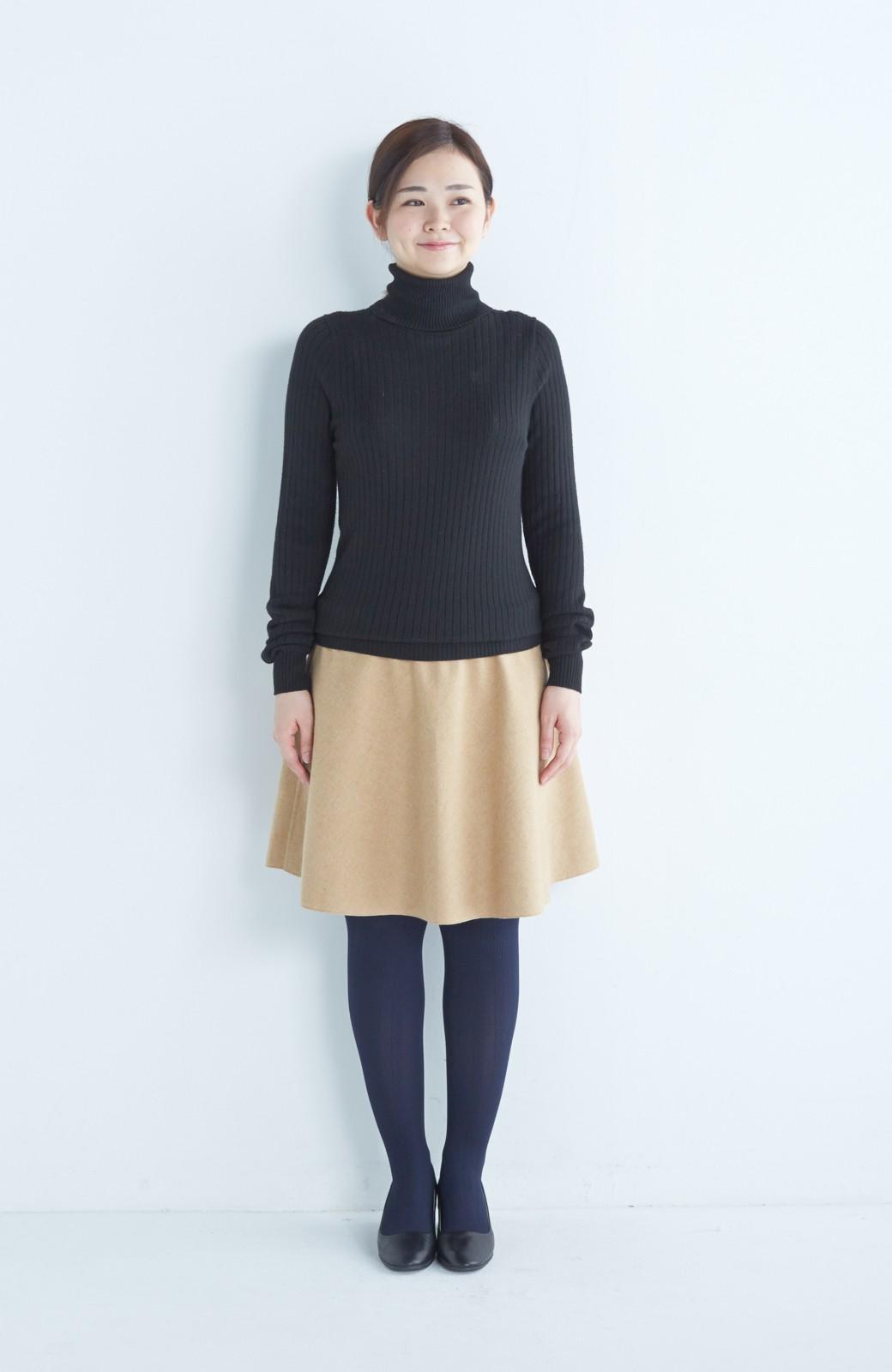エムトロワ 【mer1月号掲載】きれい色もあったかも楽しめるリバーシブルフレアースカート <ベージュ>の商品写真20