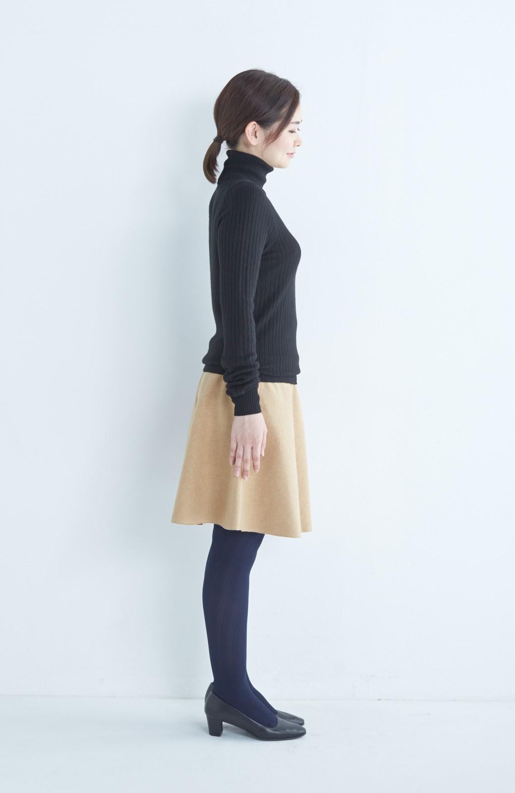 エムトロワ 【mer1月号掲載】きれい色もあったかも楽しめるリバーシブルフレアースカート <ベージュ>の商品写真21