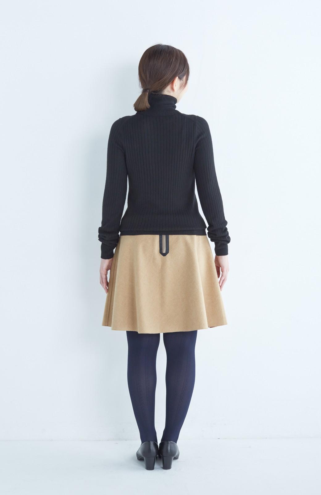 エムトロワ 【mer1月号掲載】きれい色もあったかも楽しめるリバーシブルフレアースカート <ベージュ>の商品写真22