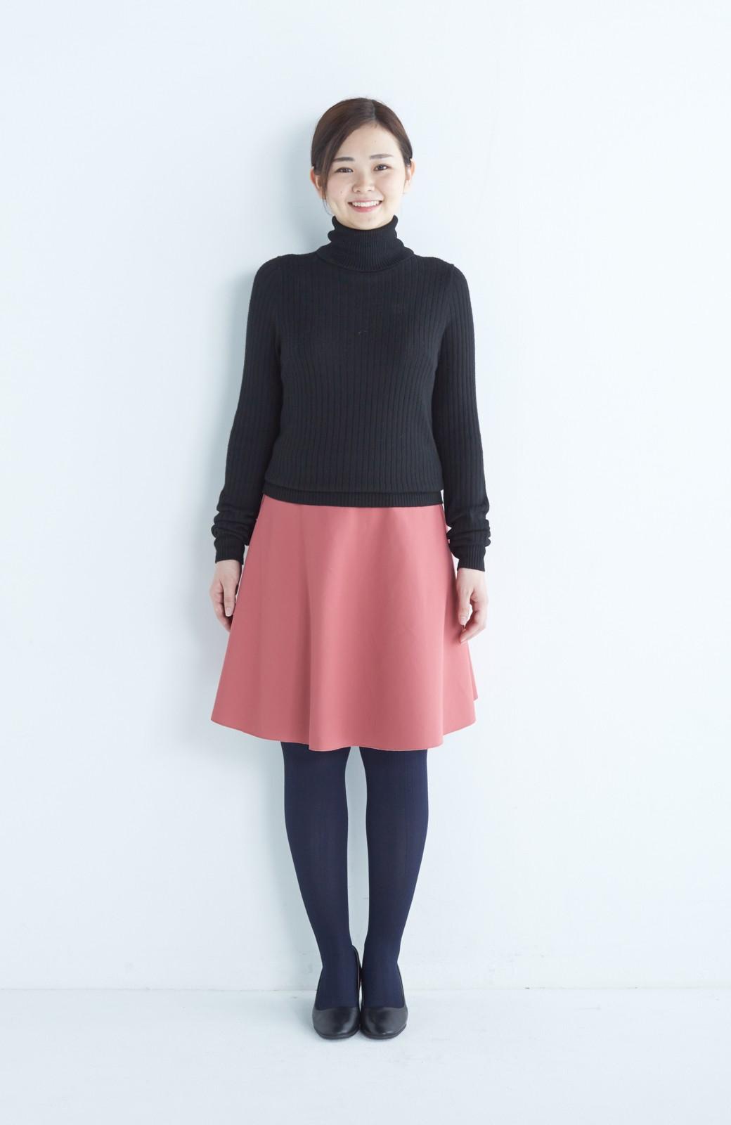 エムトロワ 【mer1月号掲載】きれい色もあったかも楽しめるリバーシブルフレアースカート <ベージュ>の商品写真23