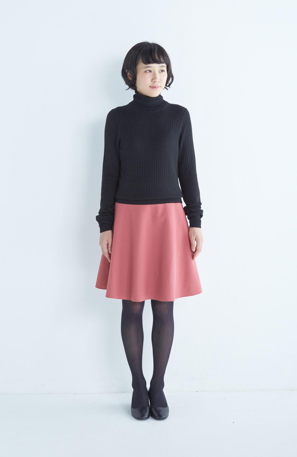 エムトロワ 【mer1月号掲載】きれい色もあったかも楽しめるリバーシブルフレアースカート <ベージュ>の商品写真7