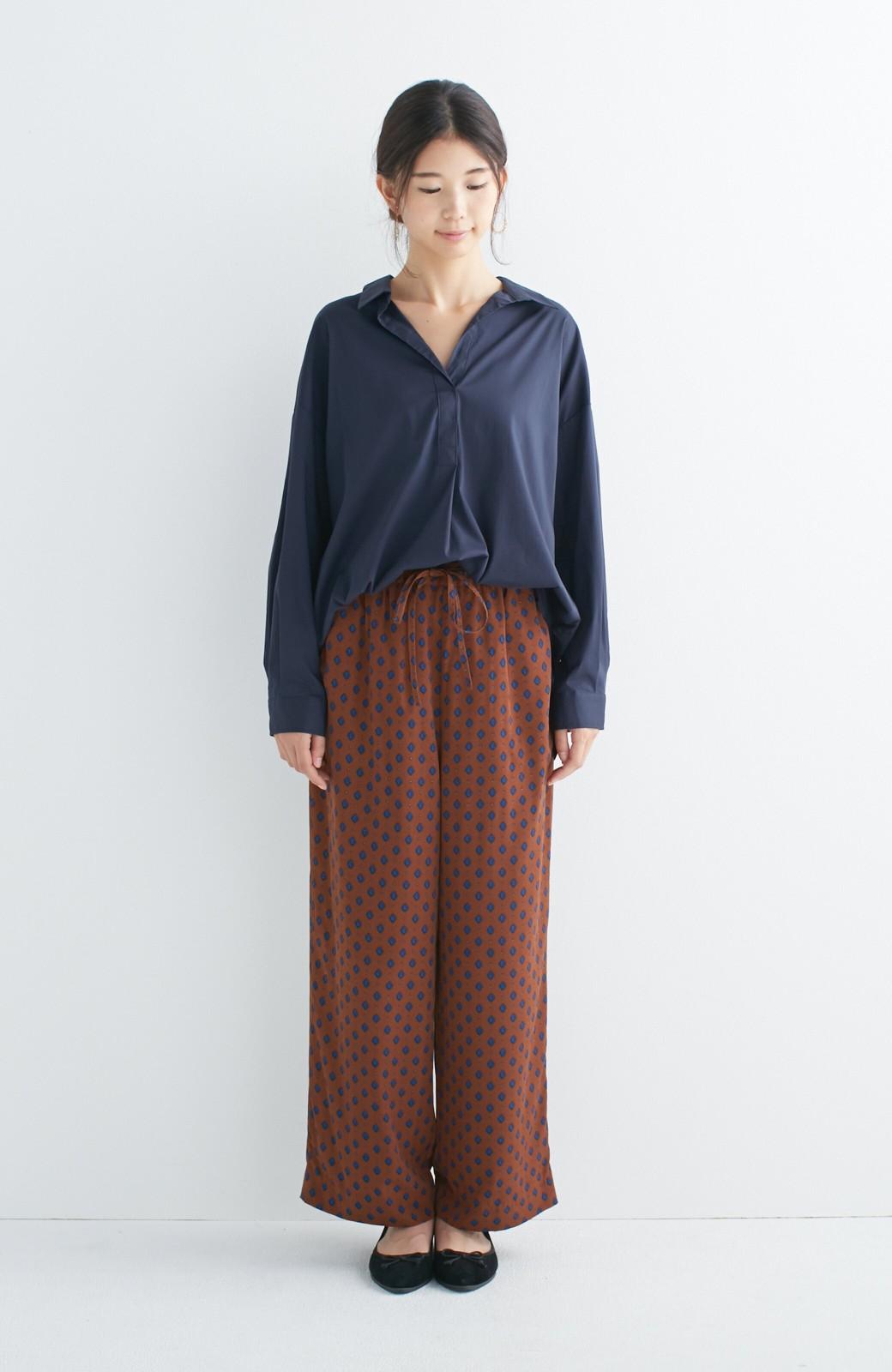 エムトロワ 着るだけでベストバランス抜き衿シャツ <ネイビー>の商品写真3