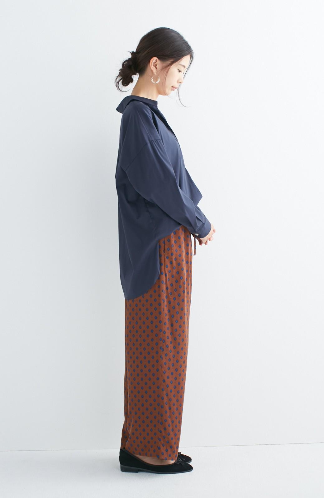 エムトロワ 着るだけでベストバランス抜き衿シャツ <ネイビー>の商品写真5