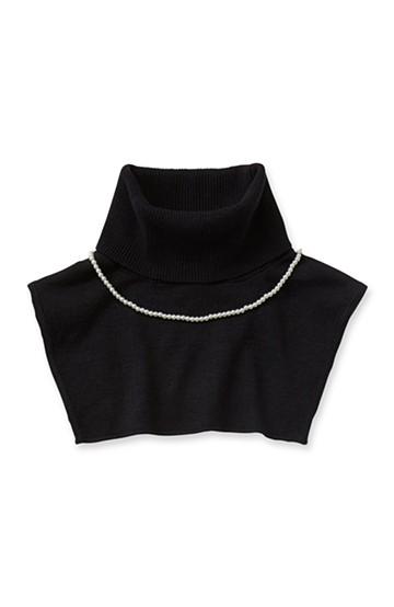 pilvee 取り外しプラパール付きタートルニットつけ衿 <ブラック>の商品写真