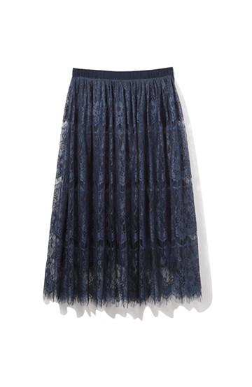 nusy 総レースのミモレ丈スカート <ネイビー>の商品写真