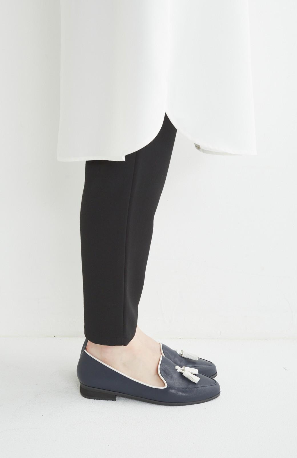 nusy 【mer11月号】足もとポイントのタッセルフラットシューズ <ネイビー>の商品写真4