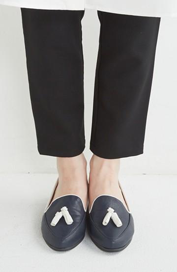 nusy 【mer11月号】足もとポイントのタッセルフラットシューズ <ネイビー>の商品写真