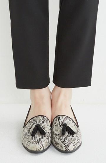 nusy 【mer11月号】足もとポイントのタッセルフラットシューズ <パイソン>の商品写真