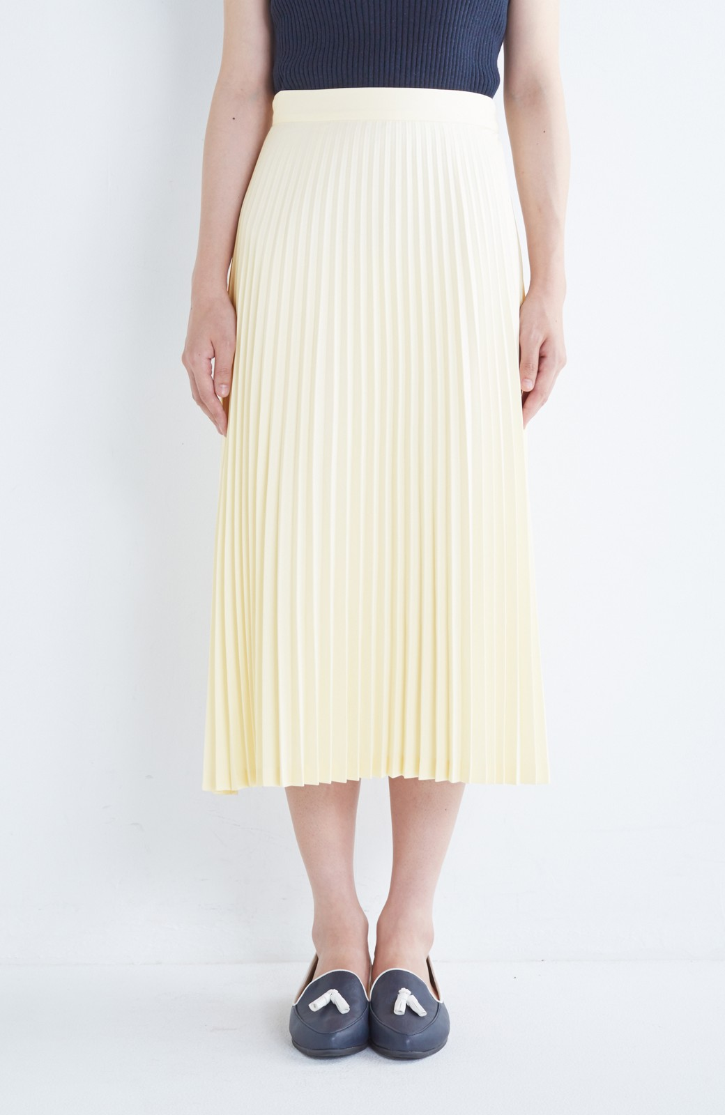 haco! 【mer11月号掲載】折り目正しい大人のためのプリーツスカート by que made me <アイボリー>の商品写真2