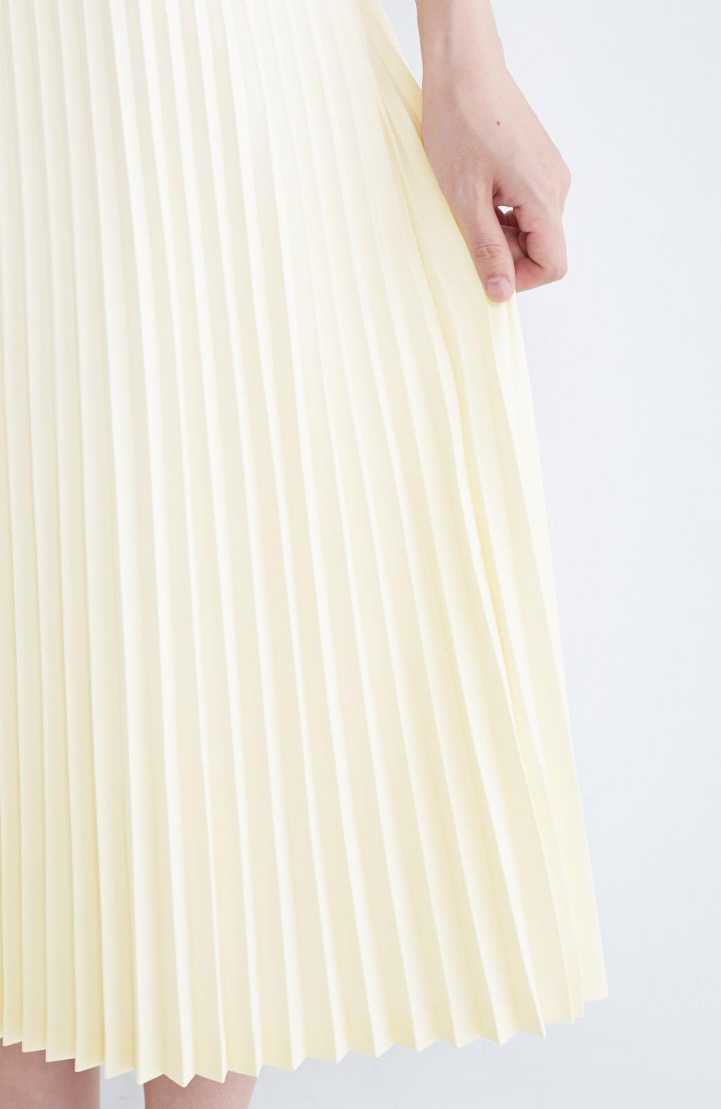 haco! 【mer11月号掲載】折り目正しい大人のためのプリーツスカート by que made me <アイボリー>の商品写真17