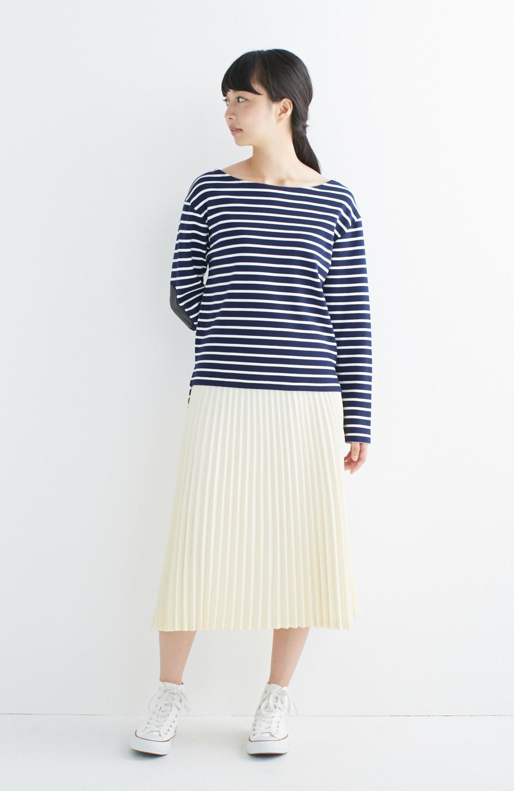 haco! 【mer11月号掲載】折り目正しい大人のためのプリーツスカート by que made me <アイボリー>の商品写真3