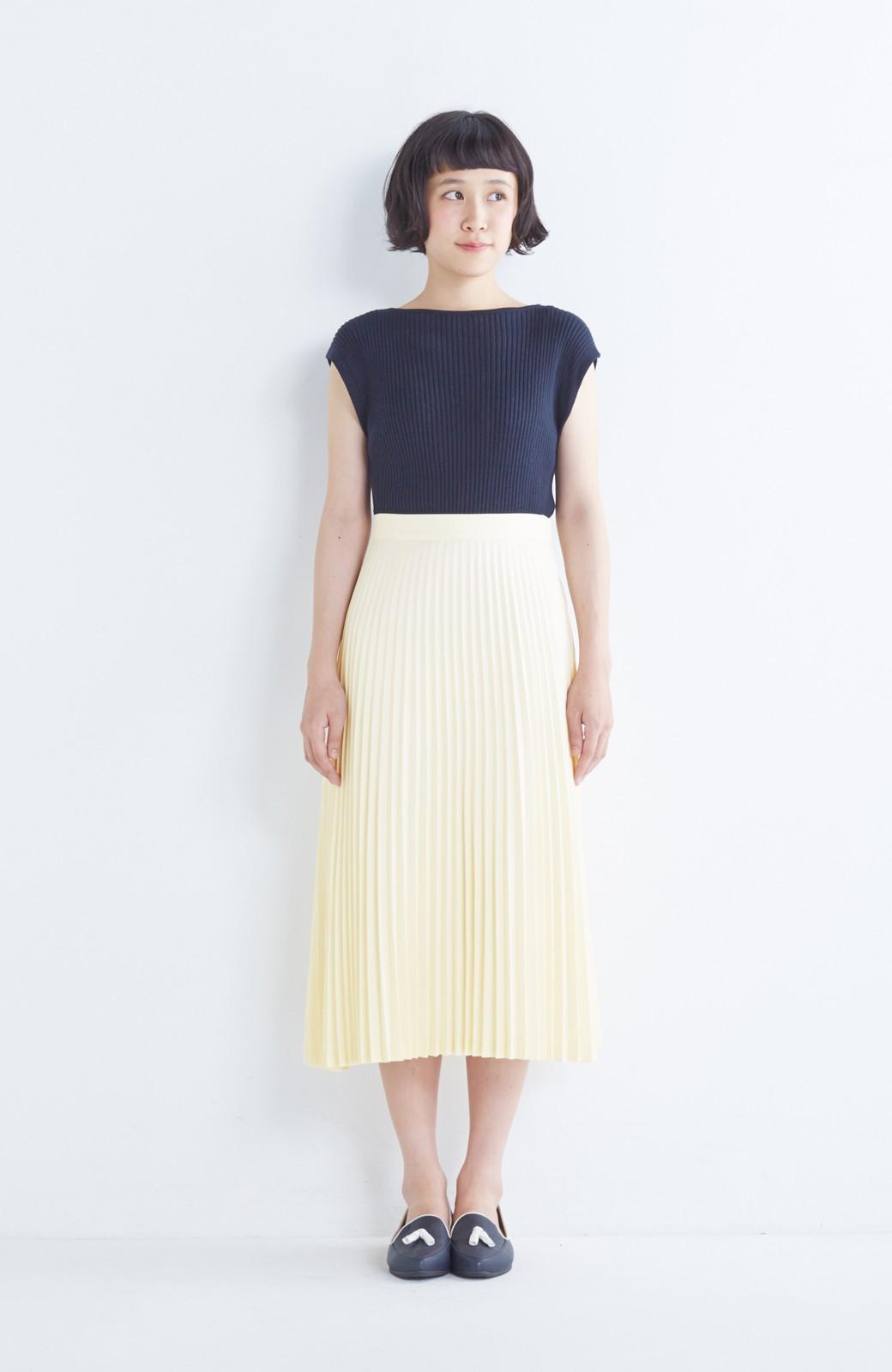 haco! 【mer11月号掲載】折り目正しい大人のためのプリーツスカート by que made me <アイボリー>の商品写真10