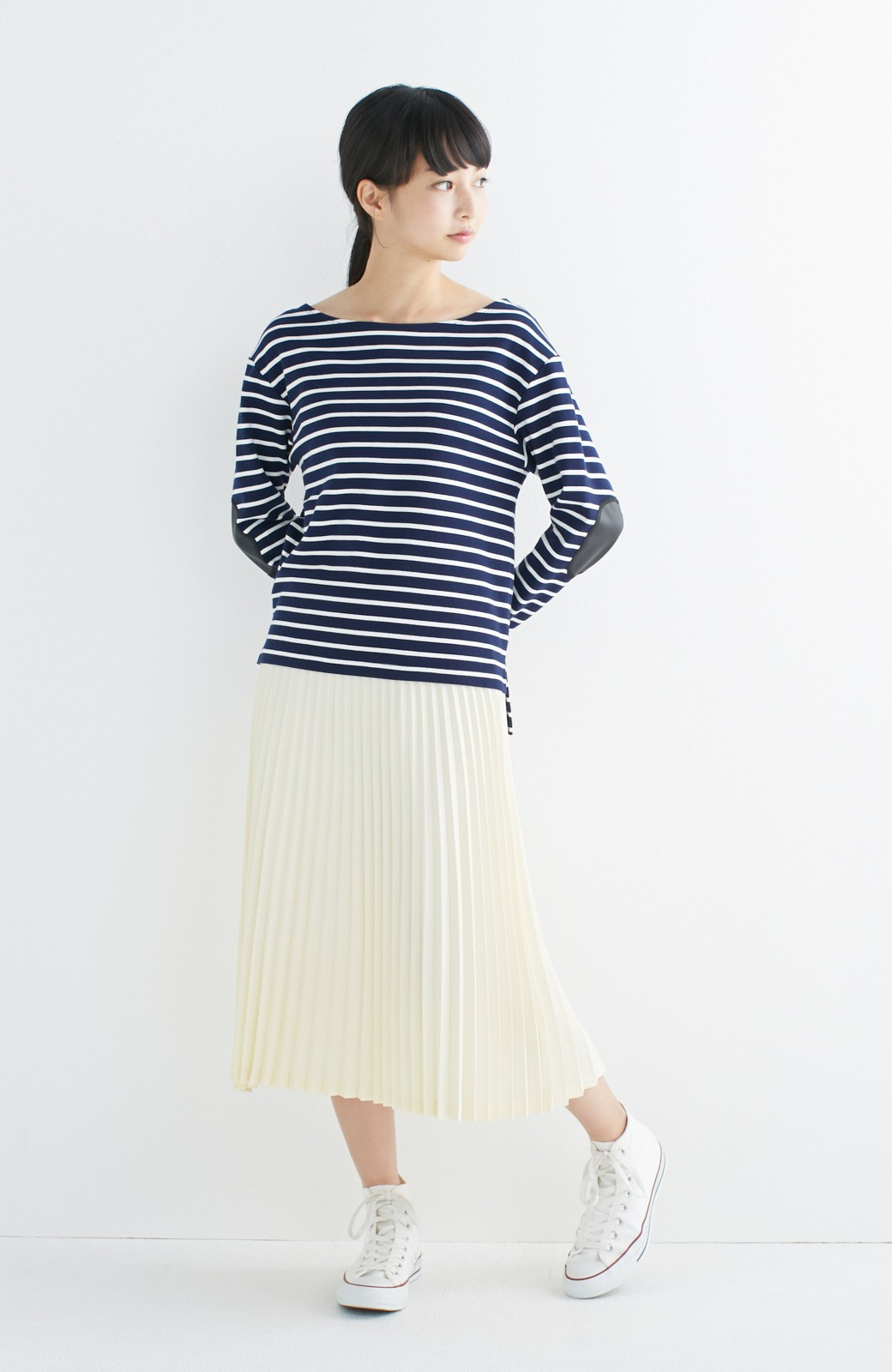 haco! 【mer11月号掲載】折り目正しい大人のためのプリーツスカート by que made me <アイボリー>の商品写真4