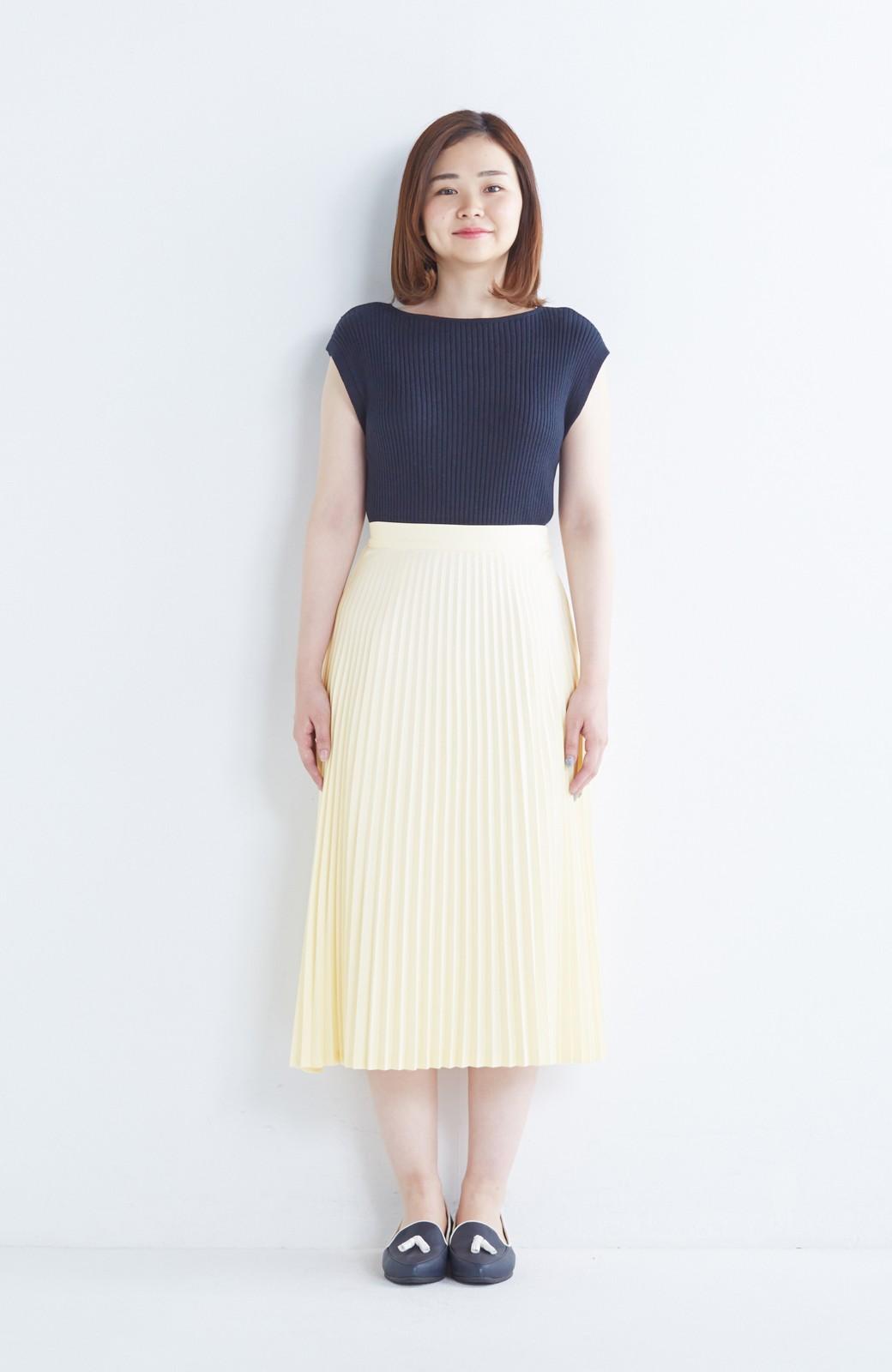 haco! 【mer11月号掲載】折り目正しい大人のためのプリーツスカート by que made me <アイボリー>の商品写真14