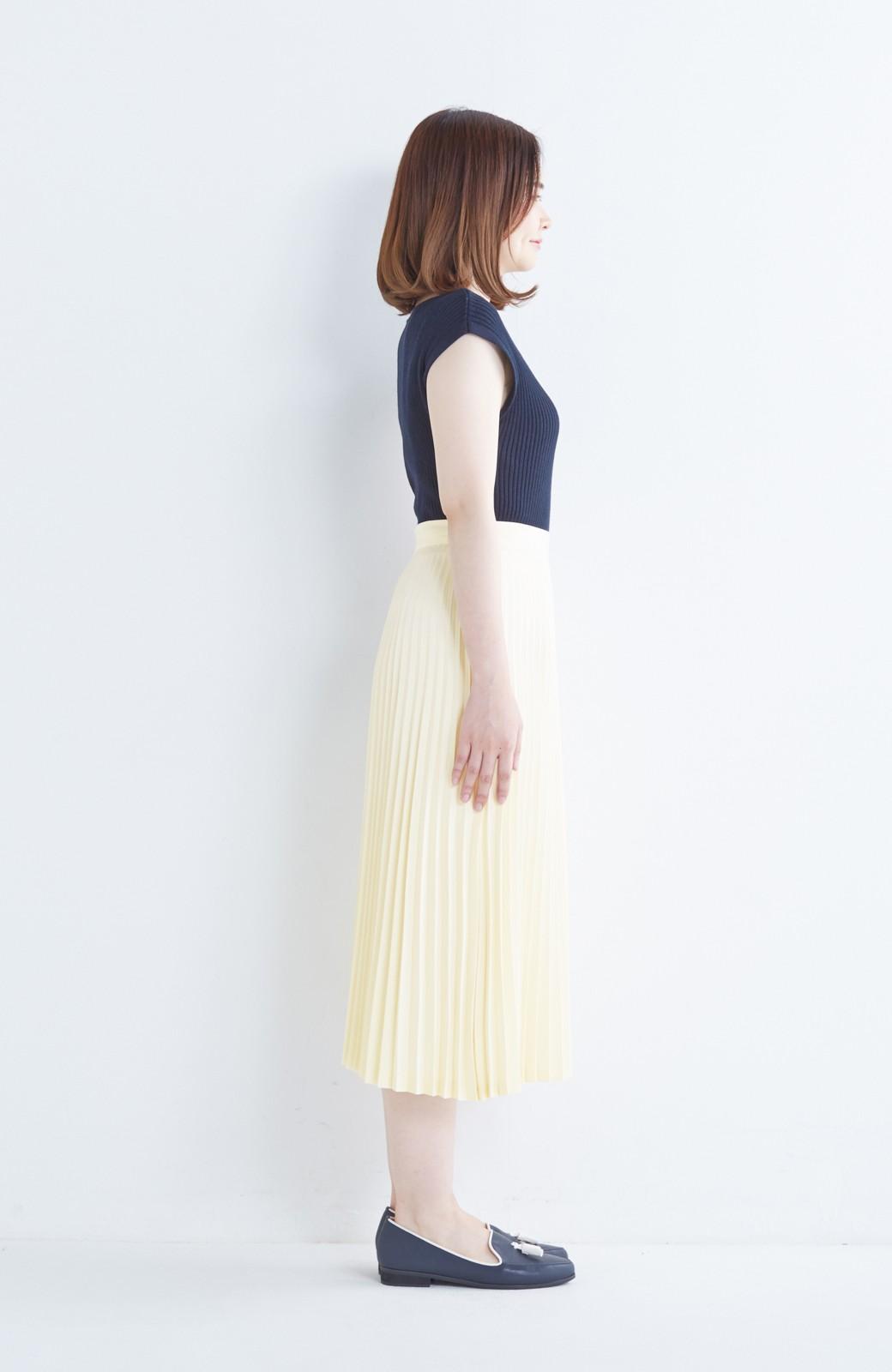 haco! 【mer11月号掲載】折り目正しい大人のためのプリーツスカート by que made me <アイボリー>の商品写真15