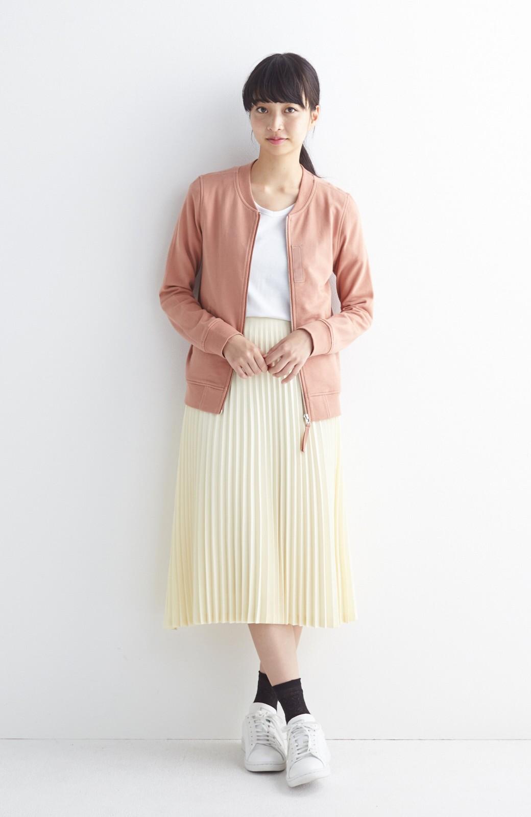 haco! 【mer11月号掲載】折り目正しい大人のためのプリーツスカート by que made me <アイボリー>の商品写真6
