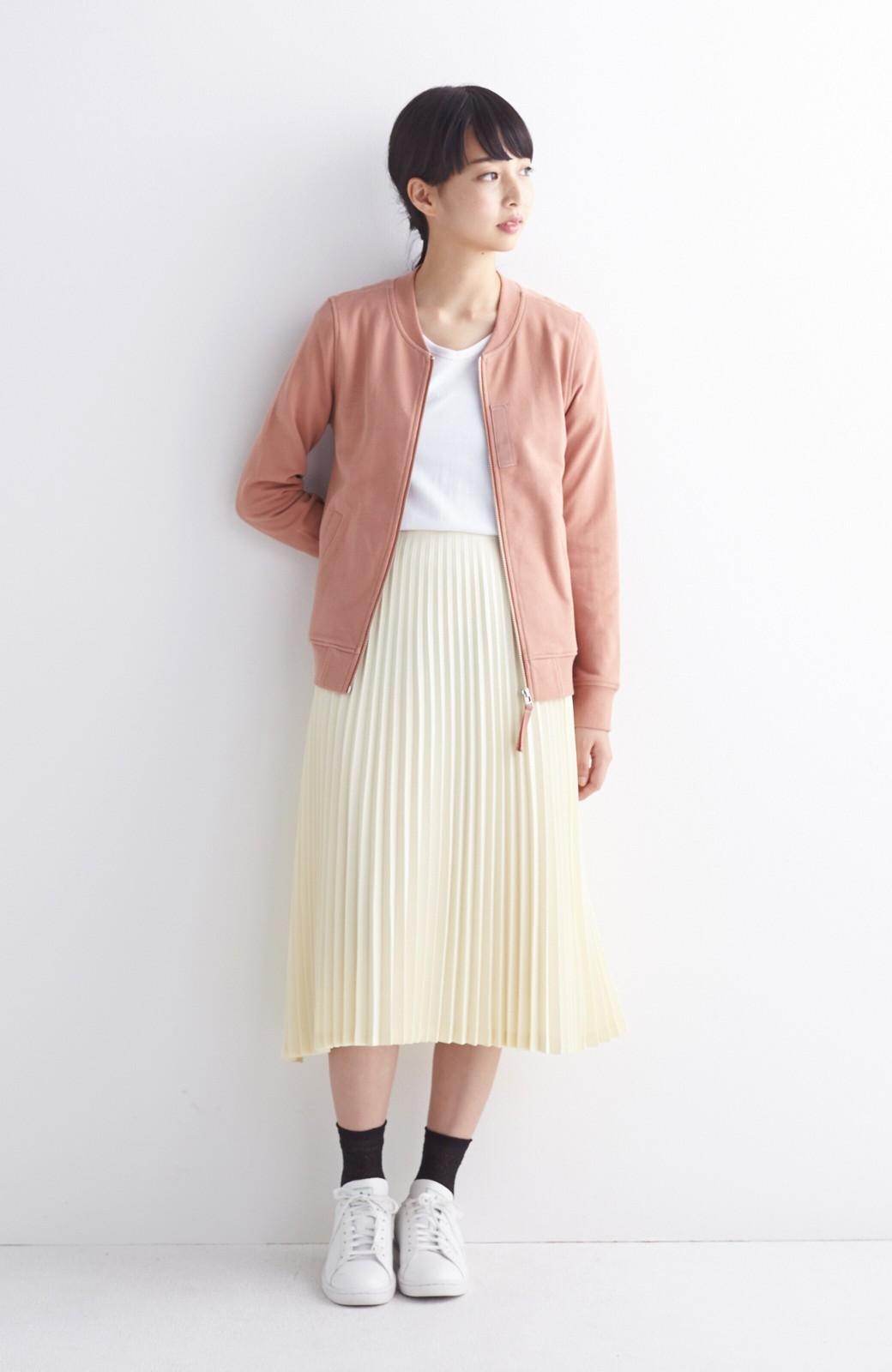 haco! 【mer11月号掲載】折り目正しい大人のためのプリーツスカート by que made me <アイボリー>の商品写真7