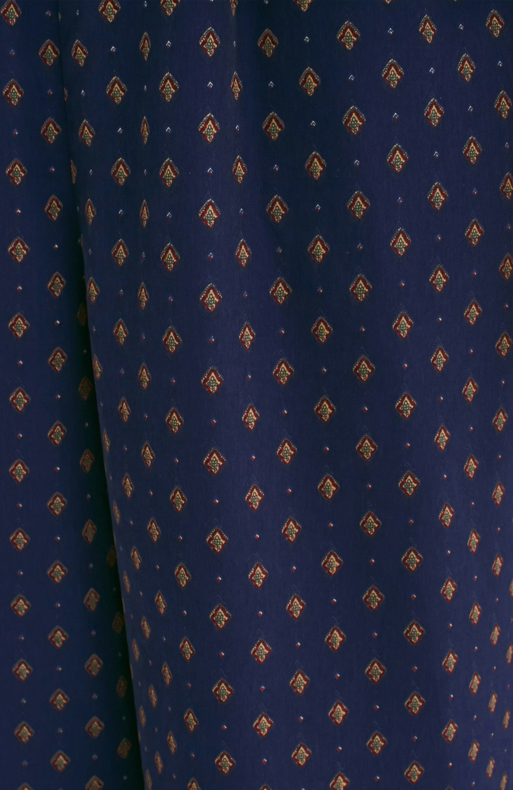 エムトロワ 大人シックな柄ワイドパンツ <ネイビー>の商品写真3