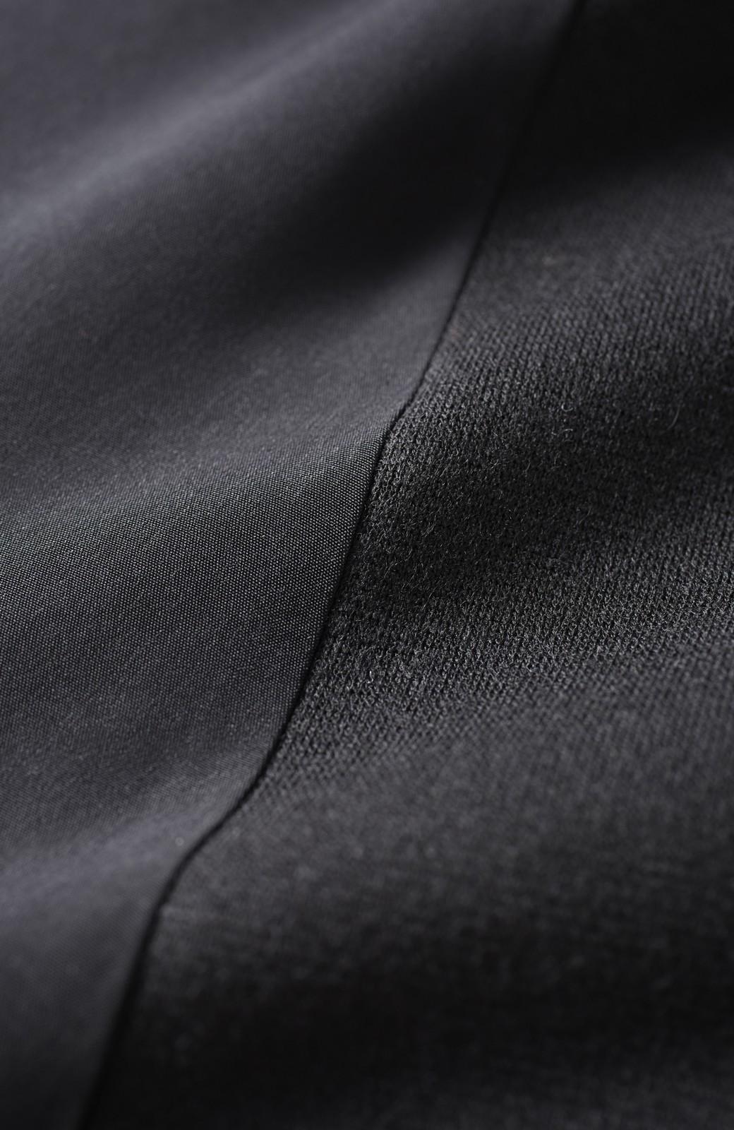 エムトロワ 袖ギャザーコンビトップス <ブラック>の商品写真4