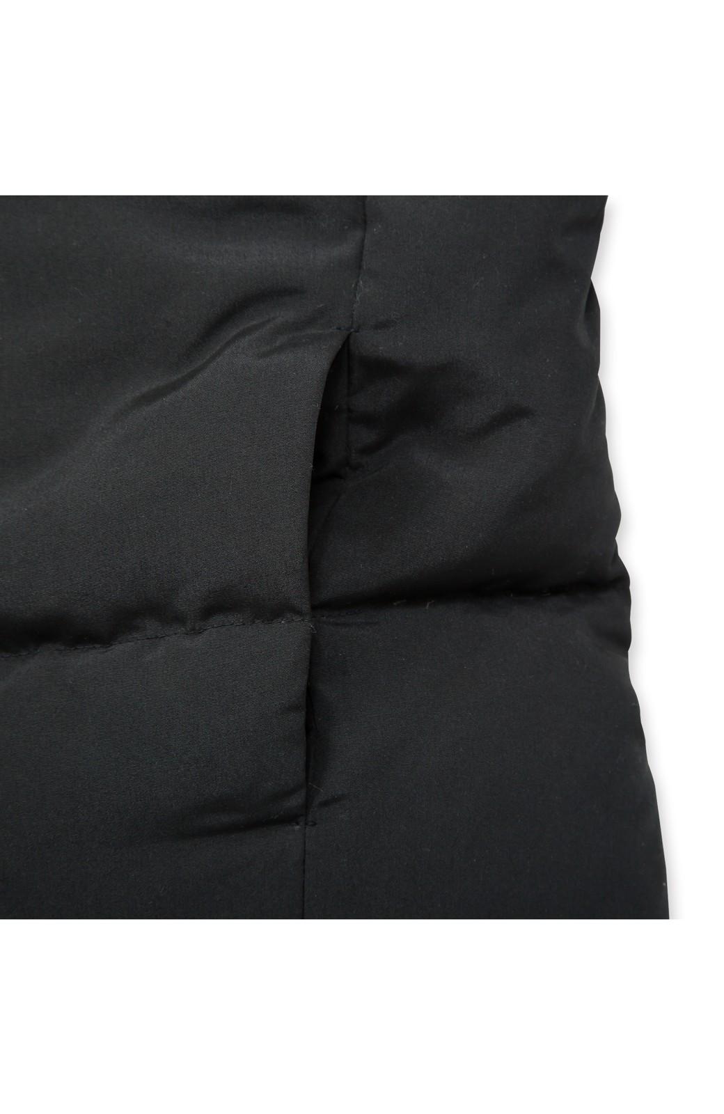SHE THROUGH SEA #セパレートロングダウンコート <ブラック×ブラック>の商品写真7